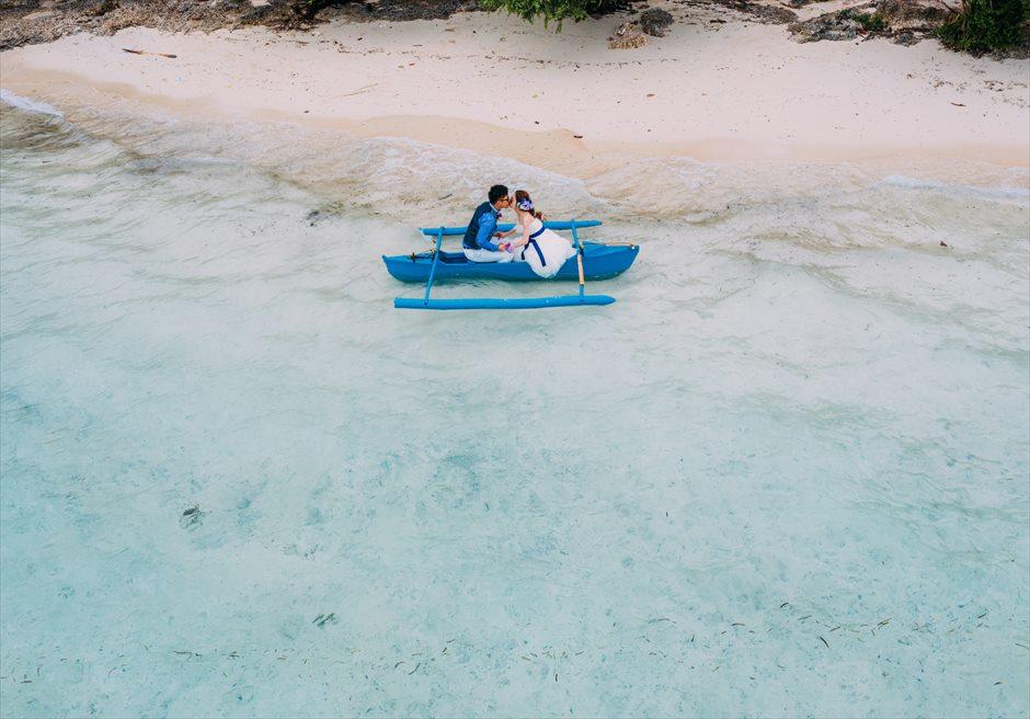 セブの離島ロケーション・フォトはドローンの空撮で美しいビーチを撮影